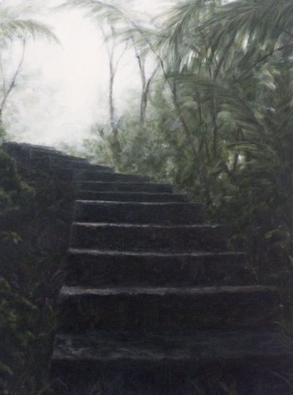 Erick Sanchez Painting path staircase el Yunque country mountains Puerto Rico
