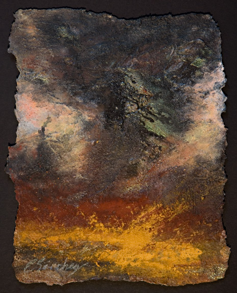 Apocalyptic painting tornado alley wind destruction