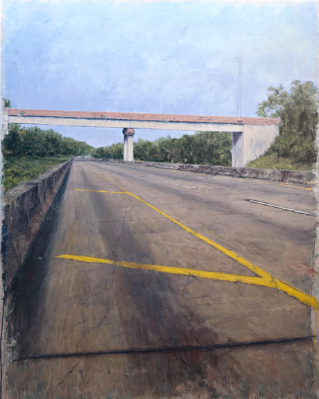 Erick Sanchez Painting road atmosphere Dorado bridge Puerto Rico