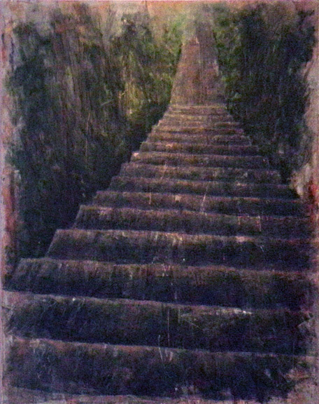 Erick Sanchez painting from El Yunque staircase puerto Rico