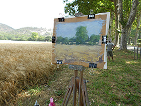 painting at Le Tholonet, France