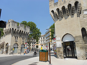 Avignon is a walled city