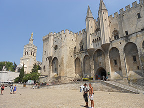 The magnificent Papal Palace in Avignon