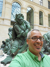At The Louvre with the European sculptures