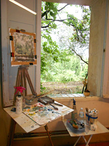 Painting the rain at the Marchutz Atelier