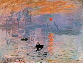 """""""Impressions: Rising Sun"""" by Claude Monet"""