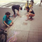 Sidewalk Chalk, #coloringclinton with artist Erick Sanchez